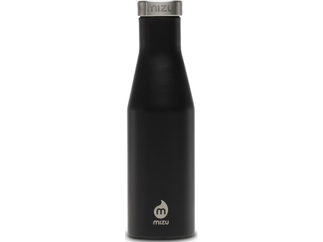 MIZU S4 Insulated Bottle with Stainless Steel Cap 400ml, enduro black
